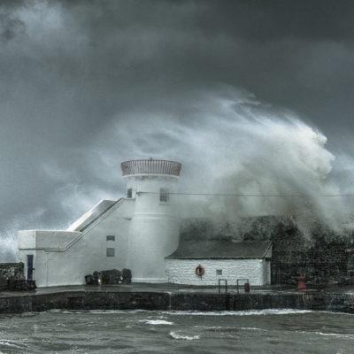 Balbriggan at Stormy day